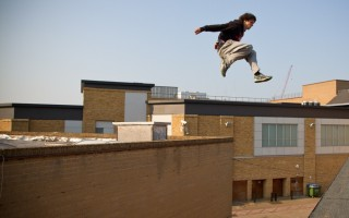 kie willis turbolenza action shot parkour