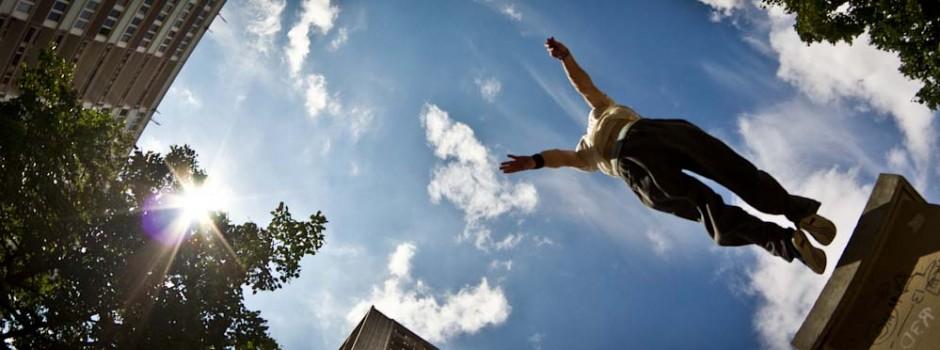 kie willis parkour jump ampisound