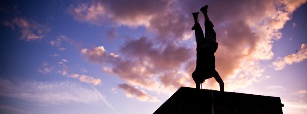 zak winston ampisound handstand sunset parkour
